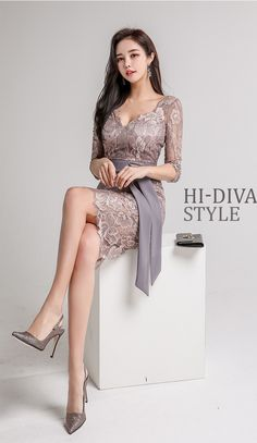 New Style 2018 Fashion Grey Blazer Women Business suits Dress Beautiful Legs, Beautiful Asian Girls, Fashion Tips For Women, Fashion Advice, Korean Beauty, Asian Beauty, Asian Fashion, Girl Fashion, Beautiful Girl Wallpaper