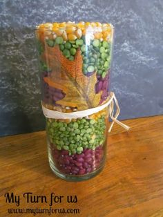 My Turn for us: Fall Candle Vase