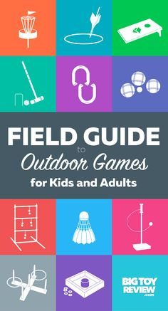 Bring on the lawn games! This Field Guide to Outdoor Games for Kids will help you find the coolest ways to have fun in the yard all season long.