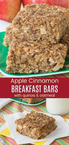 Quinoa Breakfast Bars, Quinoa Bars, Healthy Make Ahead Breakfast, Apple Breakfast, Quinoa Protein, Breakfast Cupcakes, Breakfast Ideas, Healthy Breakfasts, Quinoa Cupcakes