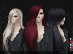 The Sims Resource: Valo Hair by Stealthic • Sims 4 Downloads
