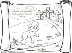 """lamb of god color page 