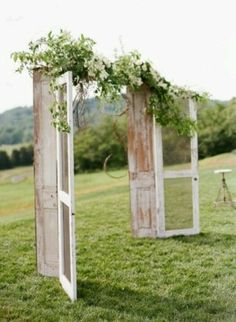 Homemade Wedding Arches | Wedding arch using doors and screens