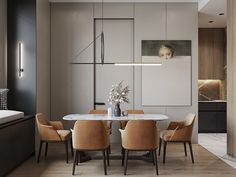 Interior of the living room and kitchen in Moscow on Behance Small House Interior Design, Interior Design Images, Office Interior Design, Modern Kitchen Design, Interior Design Inspiration, House Design, Living Room Sofa Design, Living Room Interior, Living Room Chairs