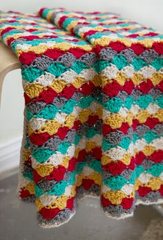 Colorful crochet baby blanket colorful kids baby pattern creative diy knit crochet blanket homemade braided