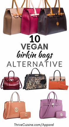 Looking for Vegan Birkin Bag alternatives with a similar style? Then you've come to the right place. We've hand selected 10 luxurious bags with a similar style that will make you swoon. Fashion Handbags, Fashion Bags, Office Bags For Women, Vegan Handbags, Women's Handbags, Vegan Purses, Felt Purse, Vegan Clothing, Vuitton Bag