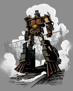 Optimus Prime - Steam Engine | What If The Transformers Were Dapper Steampunk Robots?