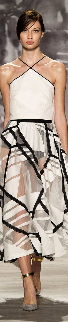 Lela Rose Spring 2015- Wouldn't wear it, unless to dance in, but like the dimensionality/ layering.