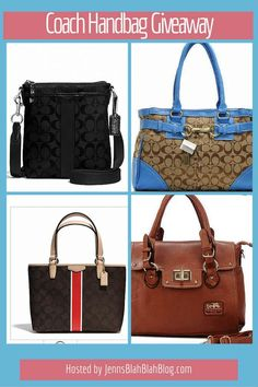 Want a brand new purse? Enter to win a Coach Purse of your choice in this awesome Coach giveaway!