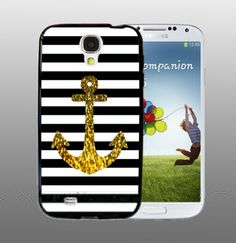 Anchor Gold Bling - design for Samsung Galaxy S4 Black case | DreamCase - Accessories on ArtFire