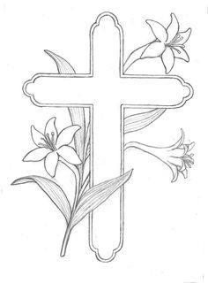 Free printable coloring pages crosses Easter Egg Coloring Pages, Bible Coloring Pages, Free Printable Coloring Pages, Coloring Pages For Kids, Cross Coloring Page, Free Coloring, Easter Drawings, Easter Religious, Easter Cross