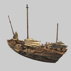 model Chinese Boat, formats MAX, boat cargo cargo-ship china crate, ready for animation and other projects Model Sailing Ships, Model Ships, Chinese Boat, Junk Ship, China Map, Wooden Ship, Wooden Boats, Water Crafts, Fantasy Art