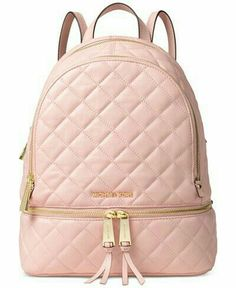 117a53bc4 Embrace the laid-back luxury of Michael Michael Kors quilted leather  backpack, featuring a number of pockets to tote all of your stylish  essentials.