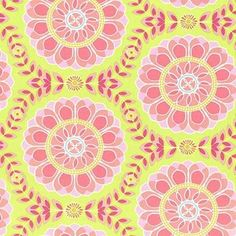 Dahlia Medallion in Lime