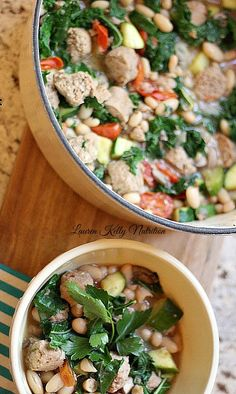 This Kale White Bean and Sausage Stew is the ultimate healthy comfort food!