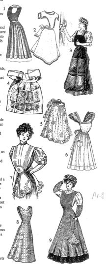 Aprons  Reference Book of Women's Vintage Clothing: 1900-1909