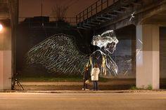 Installazioni luminose di Asbjorn Skou