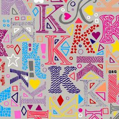 K_alphabet fabric by ladykerry on Spoonflower - custom fabric