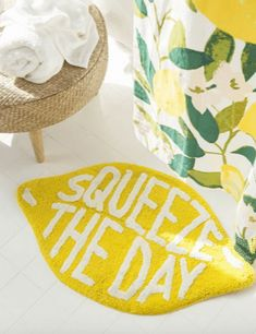 50 Cute Bath Mats That'll Freshen Up Your Bathroom and Make You Smile • Chandeliers and Champagne Urban Outfitters, Layout Design, Tile Layout, Design Ideas, Design Inspiration, Shape Design, Steam Showers Bathroom, Glass Showers, Bathroom Styling