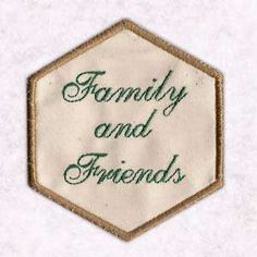 Free Embroidery Design: Family and Friends