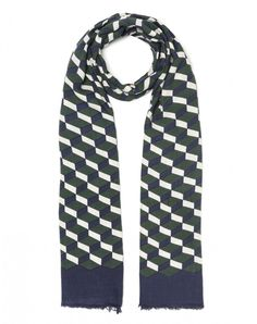 Scarf with optical print - ACCESSORIES - WOMAN