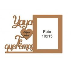Marco de fotos - Yaya te... Place Cards, Place Card Holders, Frame, Personalized Picture Frames, Personalized Gifts, Hearts, Frames