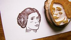 Star Wars Princess Leia Rubber Stamp by ttyr on Etsy, $24.00
