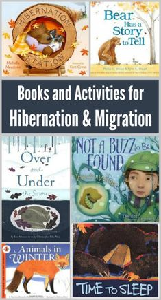 Picture books for preschool, kindergarten and elementary kids about animal migration and hibernation activities - learn how animals prepare for winter! Kids Activity Books, Preschool Books, Preschool Activities, Activities For Kids, Preschool Winter, Activity Ideas, Animals That Hibernate, Kindergarten Science, Animal Books