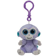 82f7d5e6c31 TY Beanie Boos - BLUEBERRY the Monkey (Solid Eye Color) (Plastic Key Clip -  3 inch) - Discontinued