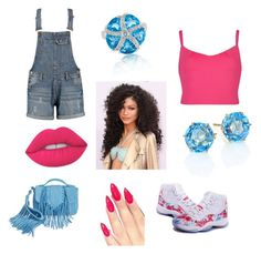 Untitled #6 by ardrey on Polyvore featuring polyvore fashion style Ted Baker Boohoo Sam Edelman Ippolita Effy Jewelry Lime Crime clothing