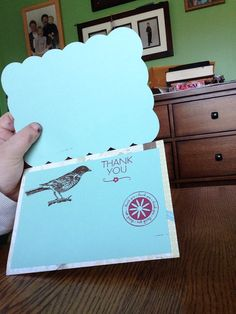 Inside of thank you card