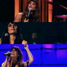 Lea looking up to Cory during her live performances