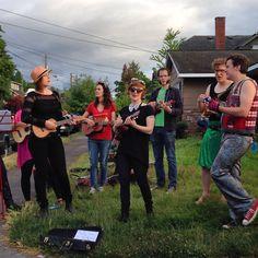 Street music at Alberta's Last Thursday.