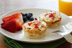 hashbrown nests with eggwhite