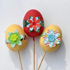 Vyrobte si s dětmi Velikonoční vajíčka s květnami na poslední chvíli. | Davona výtvarné návody