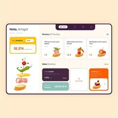 Web App - Hola Tapas designed by Outcrowd . Connect with them on Dribbble; the global community for designers and creative professionals. Ux Design, Design Layouts, Design Agency, Flat Design, Tablet Ui, Tapas Bar, Apps, User Interface Design, Web Design Inspiration