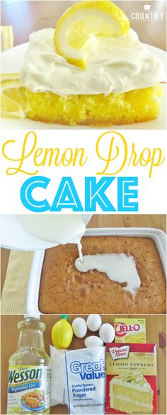 Lemon Drop Cake recipe from The Country Cook