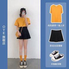 Basic Outfits, Korean Outfits, Outfits For Teens, Girl Outfits, Casual Outfits, Cute Outfits, Korean Street Fashion, Korea Fashion, Mode Ulzzang