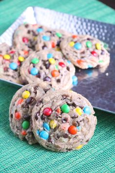 Chewy M&M Chocolate Chip Cookies 3