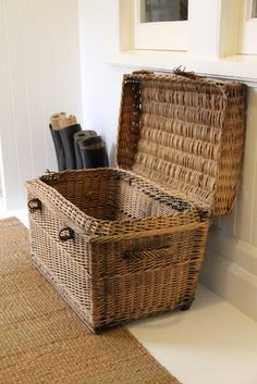 Vintage Finds: Wicker Trunk and Riding Boots