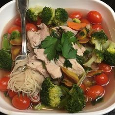 Capellini soup #luchiachia #luchiacookbook #chef #chefoninstagram #chefconsultant #foodblogger #foodblog #organic Chicken Broccoli Grape Tomato Rainbow Carrots #capellini Organic #pasta #healthyeating #healthyfood #healthy #delicious #yummy #yummyfood #foodlover #foodiegram #foodie #photooftheday #homemade