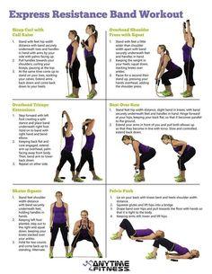 21 resistance band workout chart  254lbs 15pcs resistance