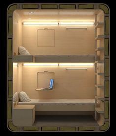 Sleepbox is a self-contained room that can be placed in almost any location.      Designed by Russian architecture firm Arch Group, each box is equipped with two beds, LED reading lamps, WiFi, electrical outlets, and plenty of storage space for your luggage.