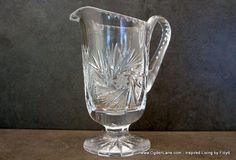 Antique Monica Pinwheel Crystal Creamer