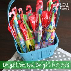 Bright Smiles Bright Futures #Colgate4Kids  Donate Colgate toothbrushes and toothpaste to a local charity in your community today! More info at Wait Til Your Father Gets Home