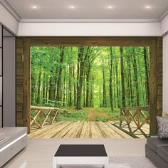 Found it at Wayfair.co.uk - View Woodland Forest 2.44m x 3.05m Wall Mural