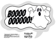 Plaquinhas divertidas Halloween Booo