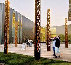 Streetlife: Open Pillar corten steel lighting column 1 of 8