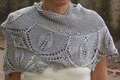 Free Pattern: Silver Leaves shawlette by Grace Karen Burns