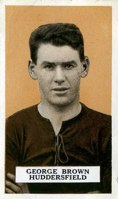 George Brown of Huddersfield Town in Huddersfield Town, 1920s, Champion, Football, Brown, Movie Posters, Soccer, Futbol, Huddersfield Town A.f.c.